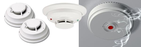 delovi alarmnog sistema za detektovanje dima u prostoriji